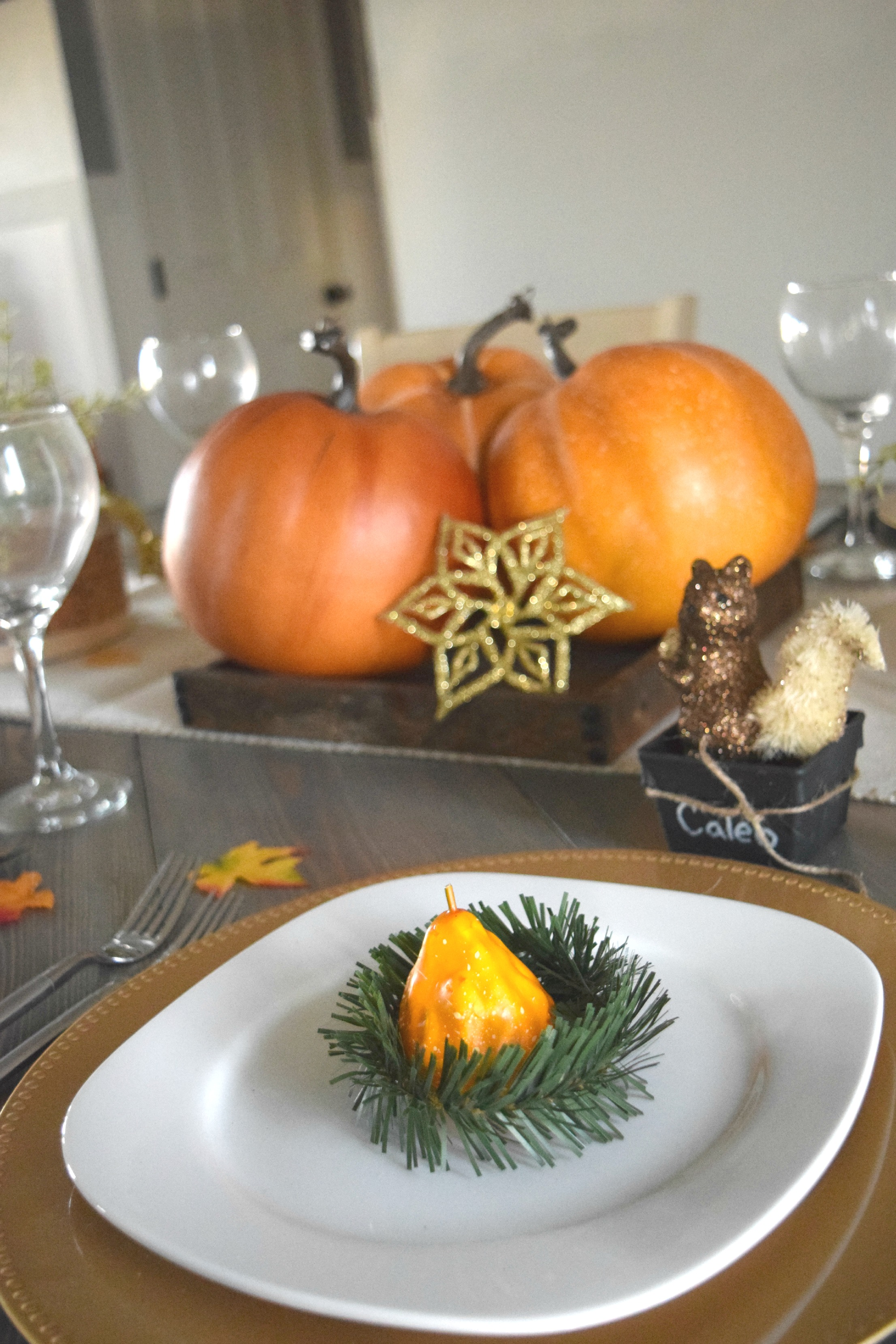 pumpkins for fall tablescape