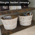 Simple basket revamp, adding polka dots