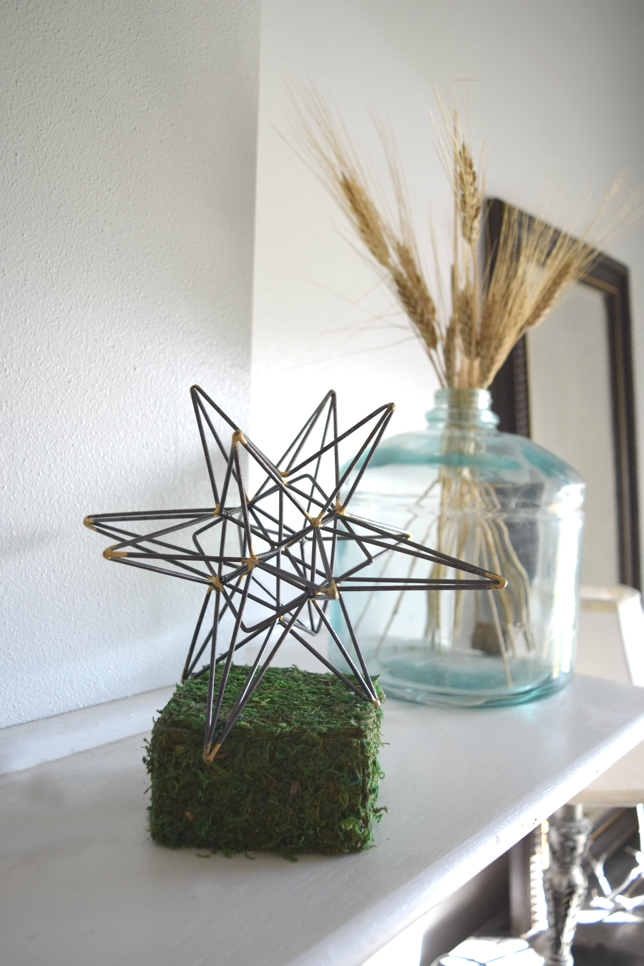 star metal orb in home decor