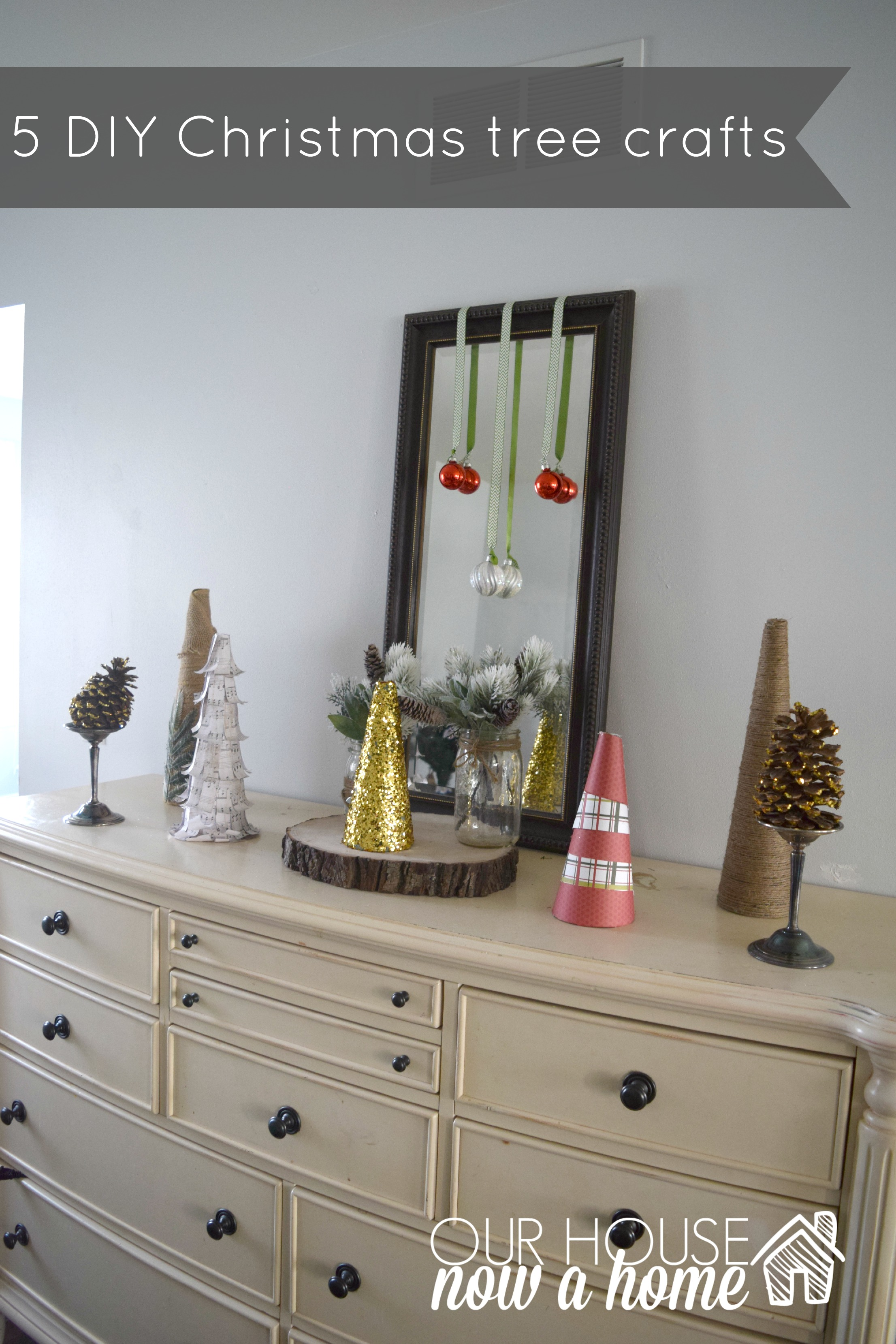 5 DIY CHTISTMAS TREE CRAFTS WITH TITLE