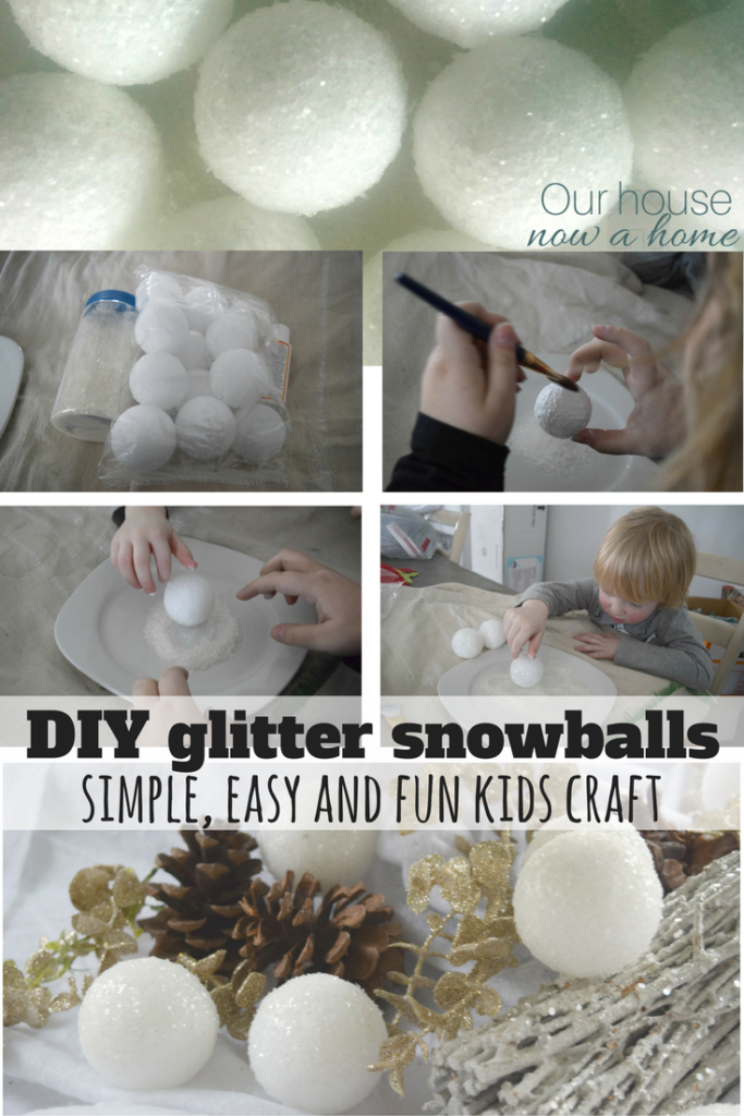DIY glitter snowball craft
