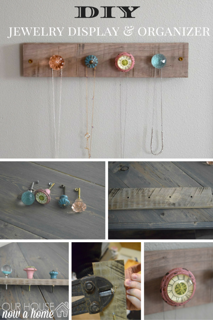DIY jewelry display & organizer