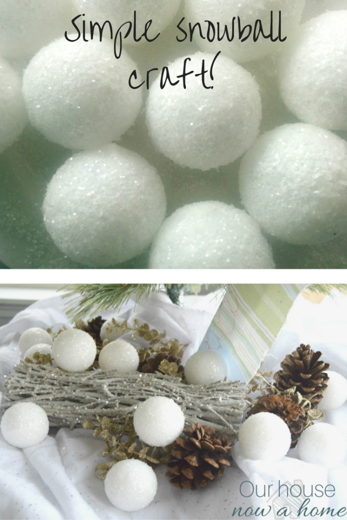 fun kids holiday craft, creating glitter snowballs