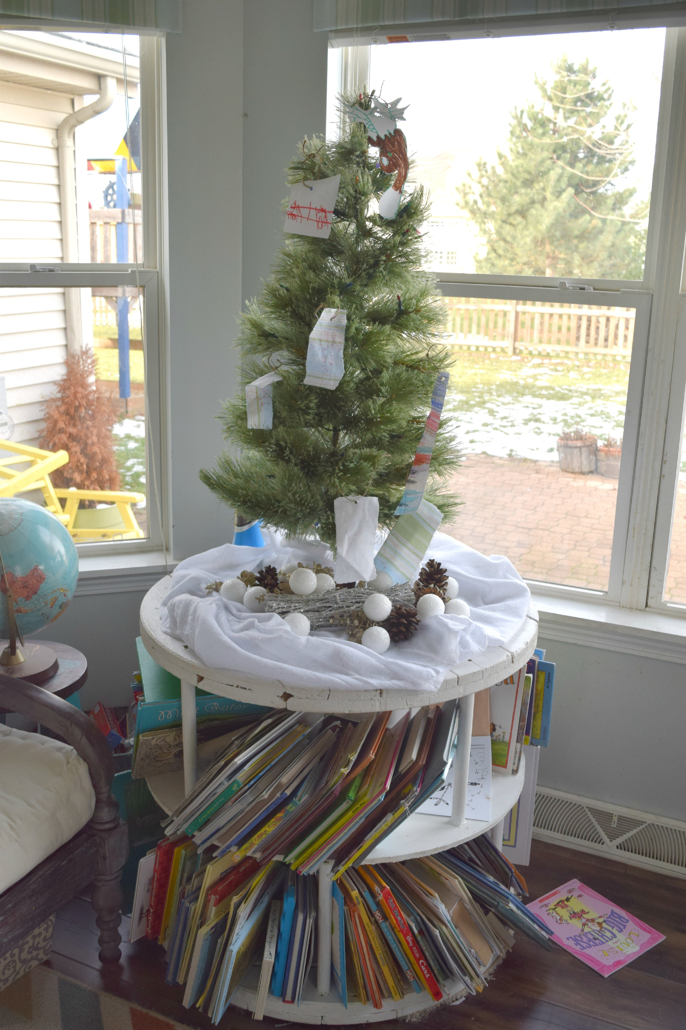 adding small christmas tree to home