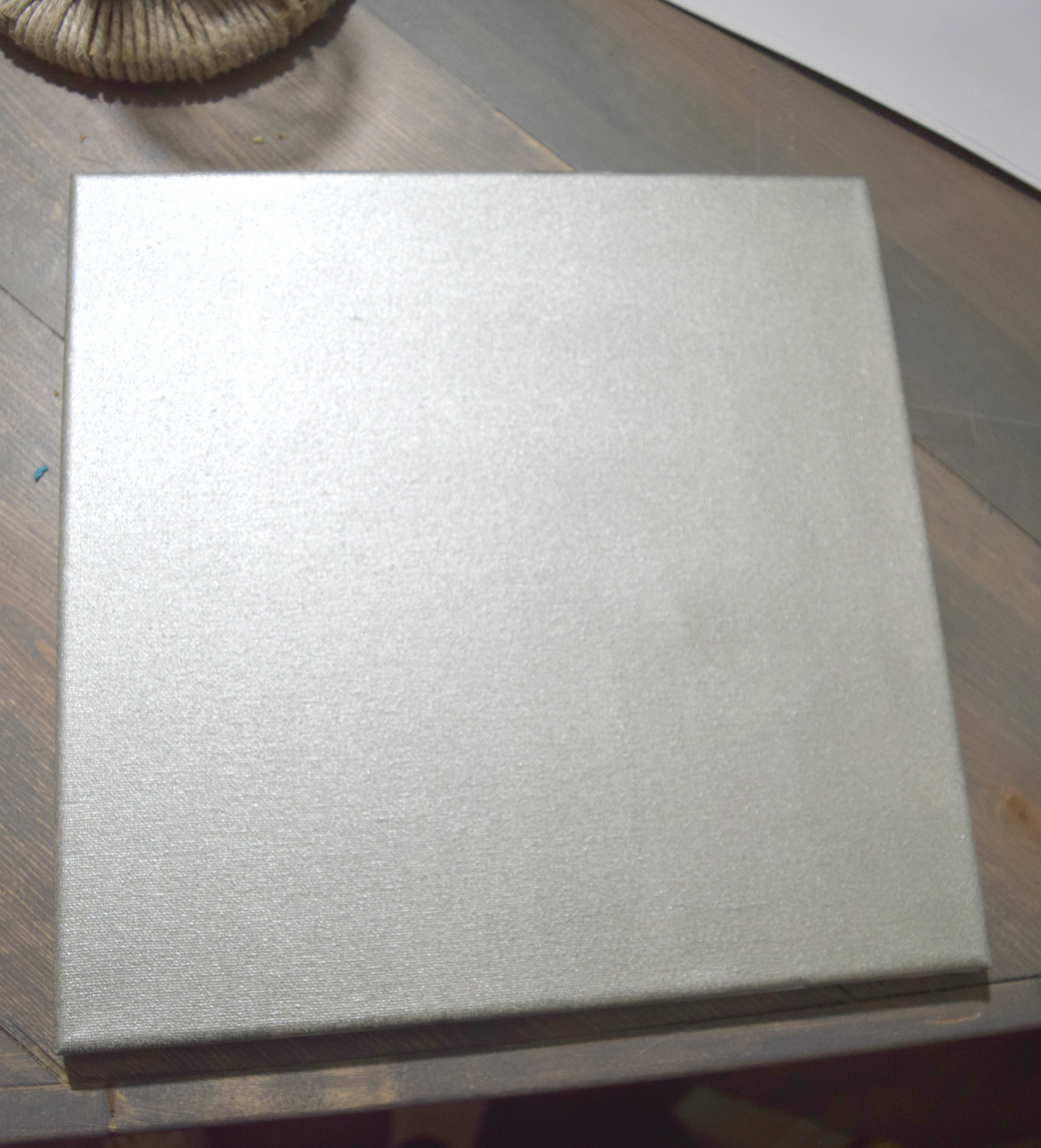 canvas painted gray