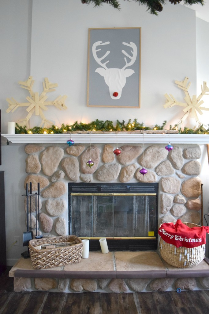 christmas fireplace mantel ecor