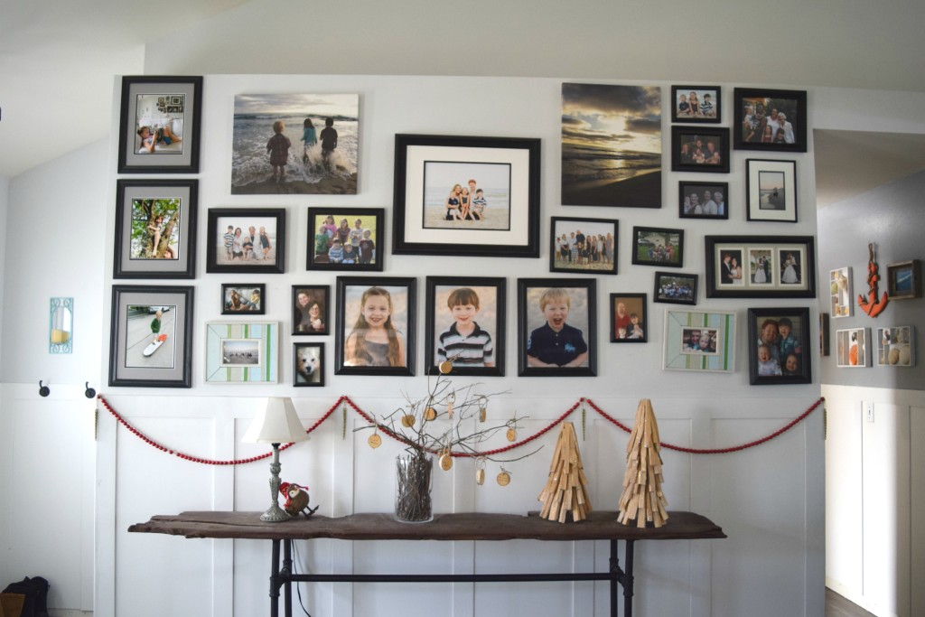 christmas gallery wall