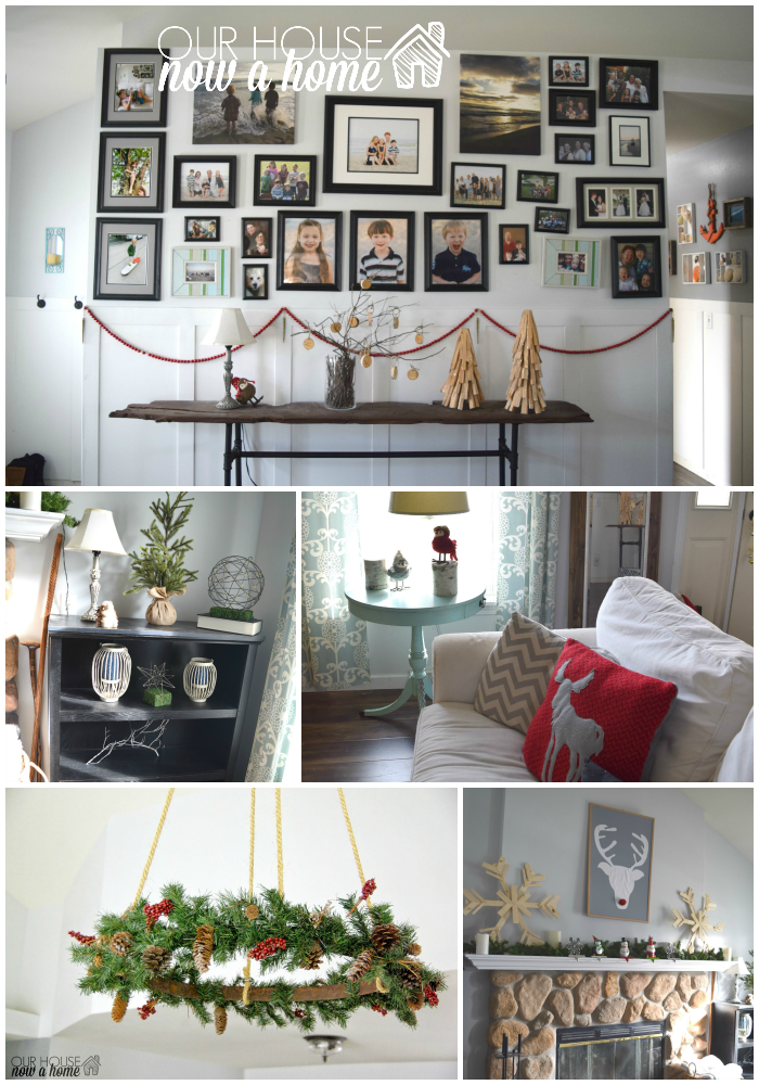 christmas living room collage with WM