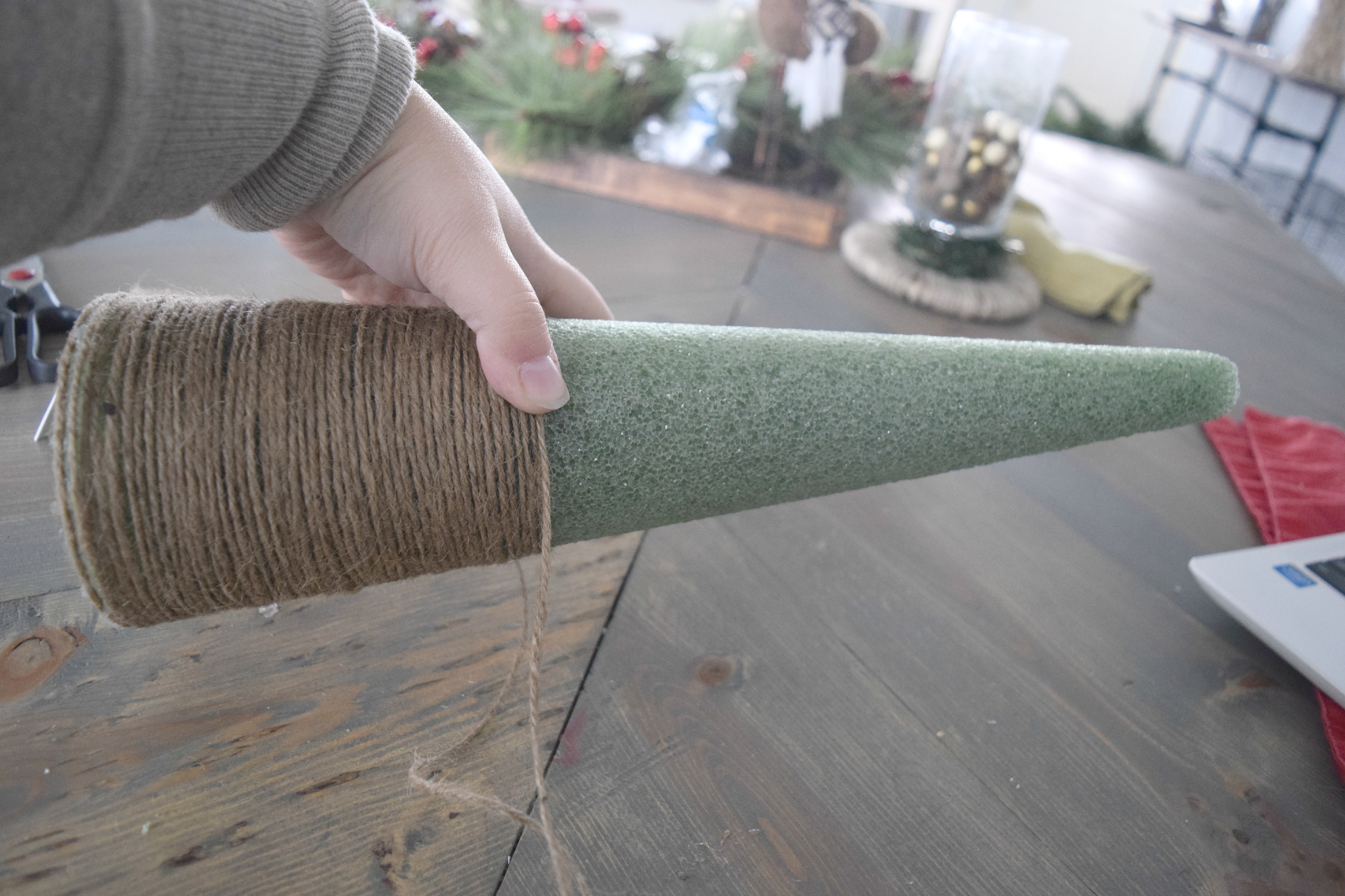 christmas tree twine craft