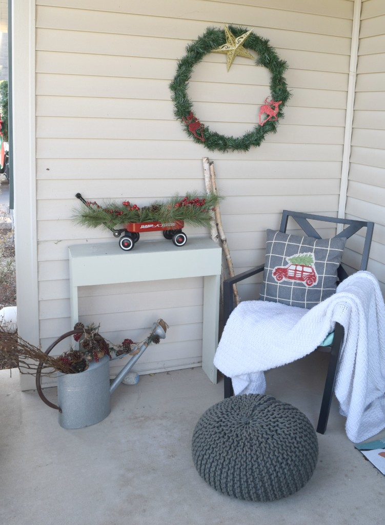 front porch Christmas seating