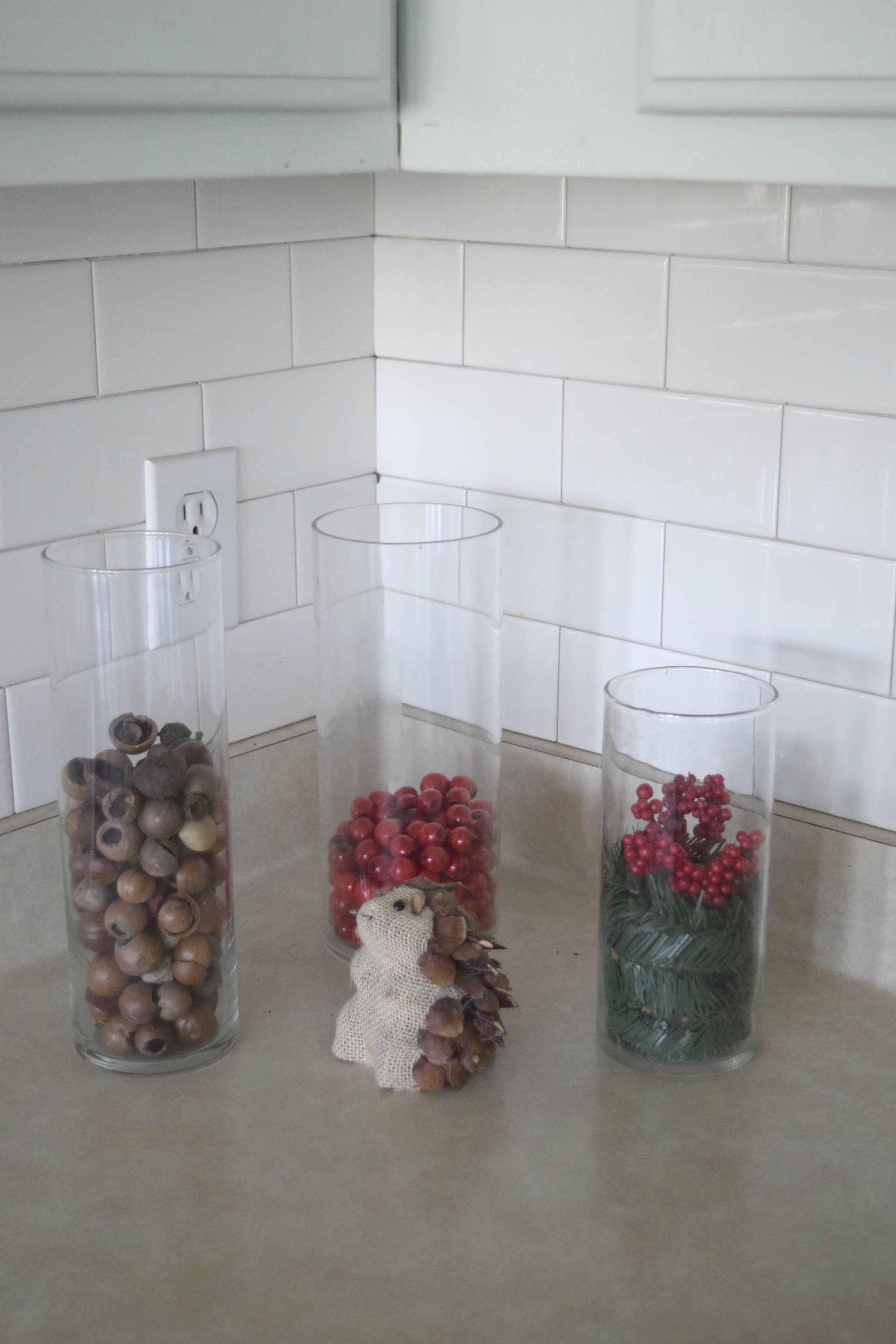 glass hurricane christmas decor ideas