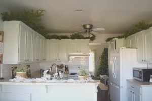 Greenery Above Kitchen Cabinets Our House Now A Home - Greenery above kitchen cabinets