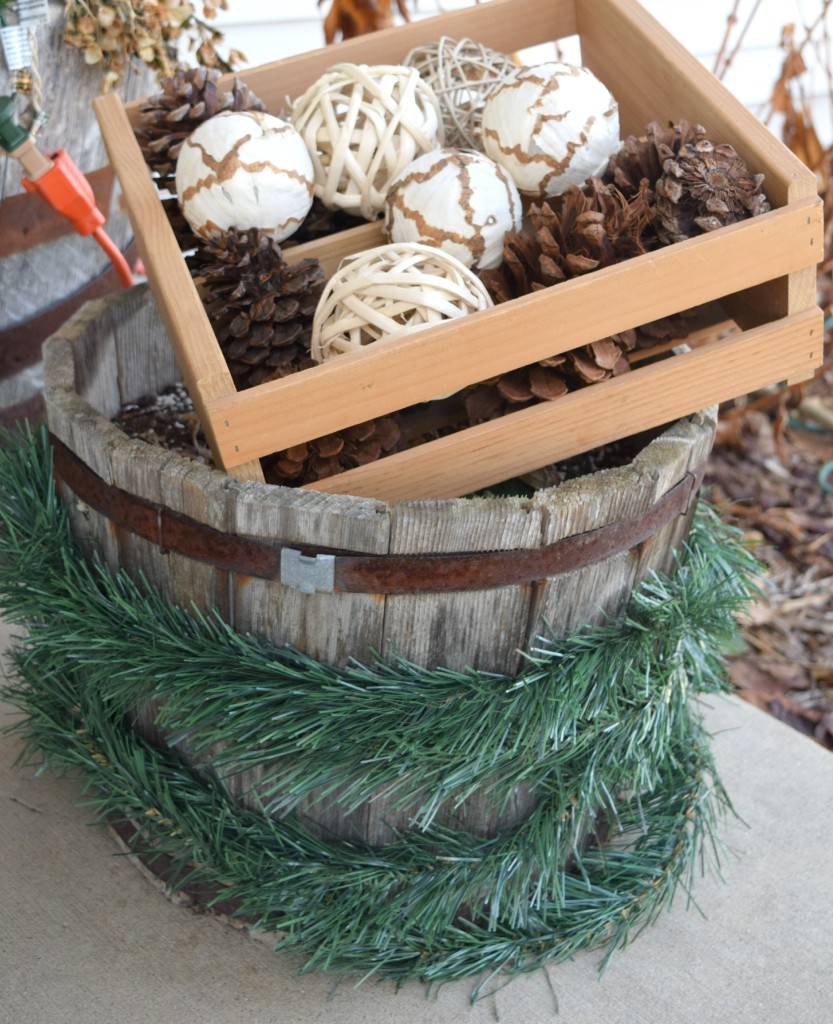 planter decor for christmas