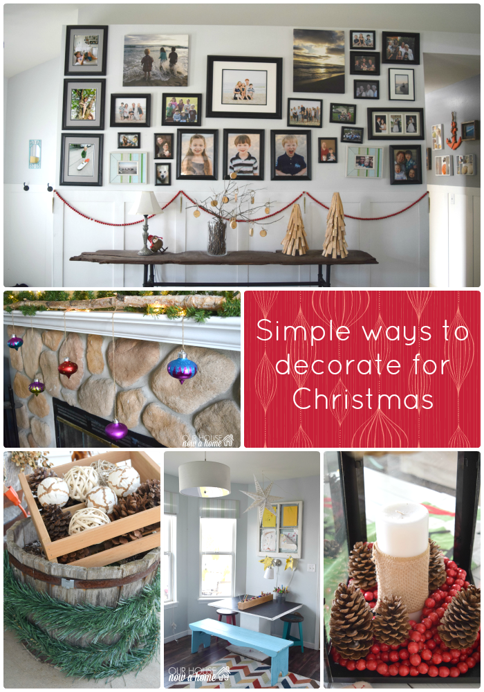 simple ways to decorate for christmas