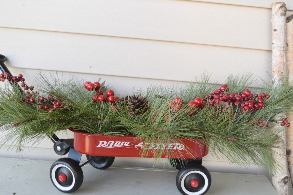wagon christmas decor