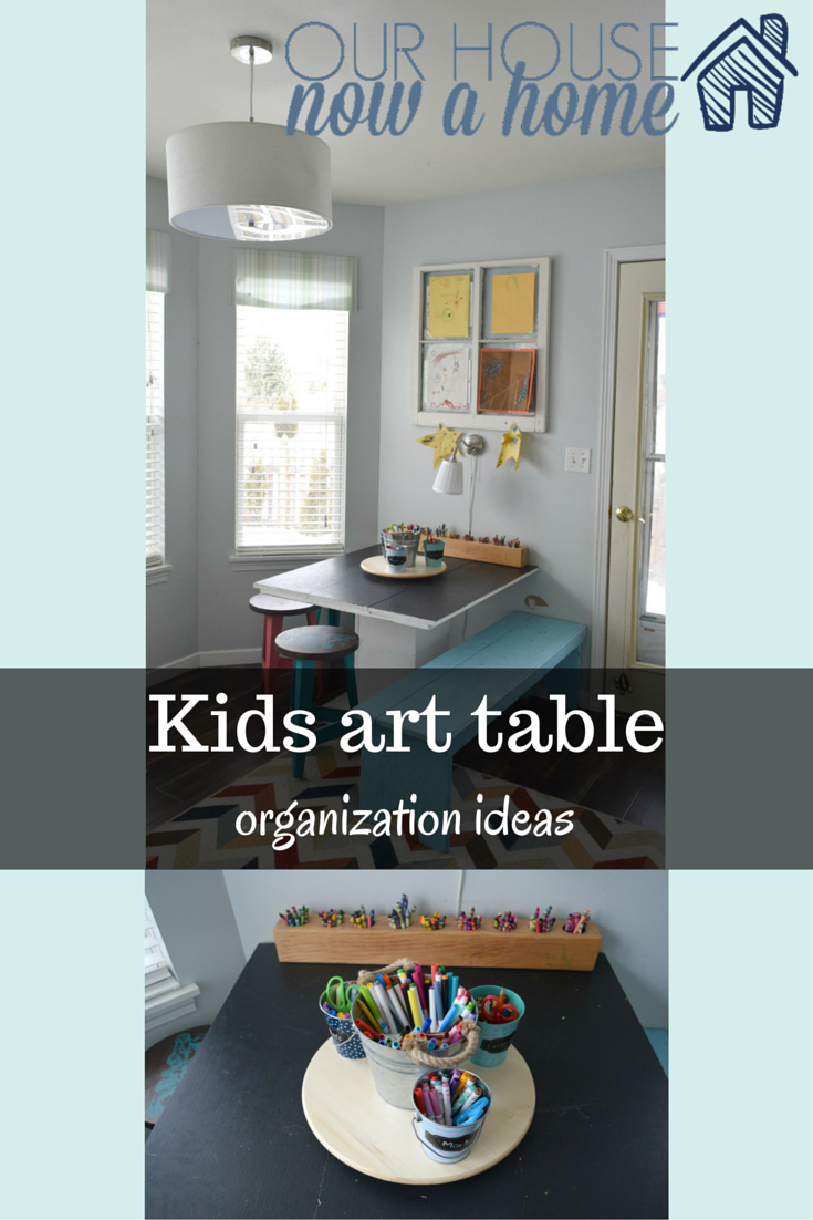 Kids art table organization ideas