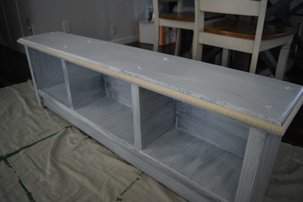 adding trim and primer to furniture