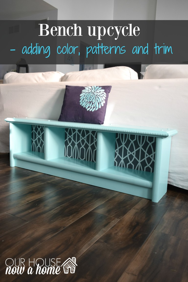 How to upcycle a bench, adding the details