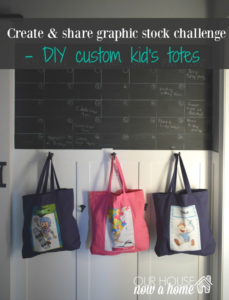 custom kids totes title