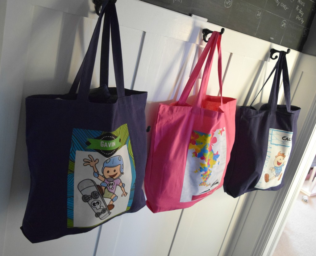 custom name totes for kids