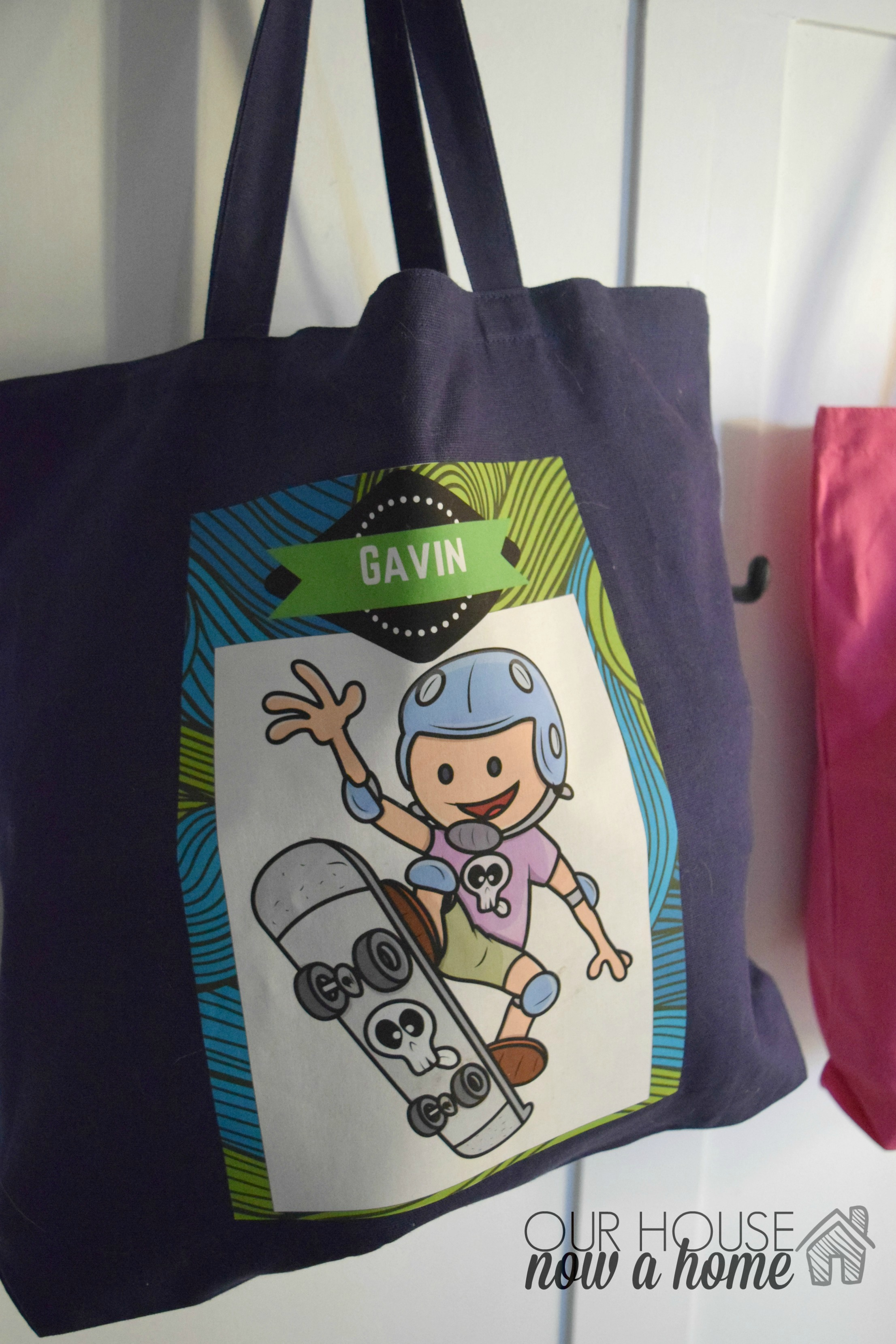 DIY custom kids totes, Graphic stock challenge