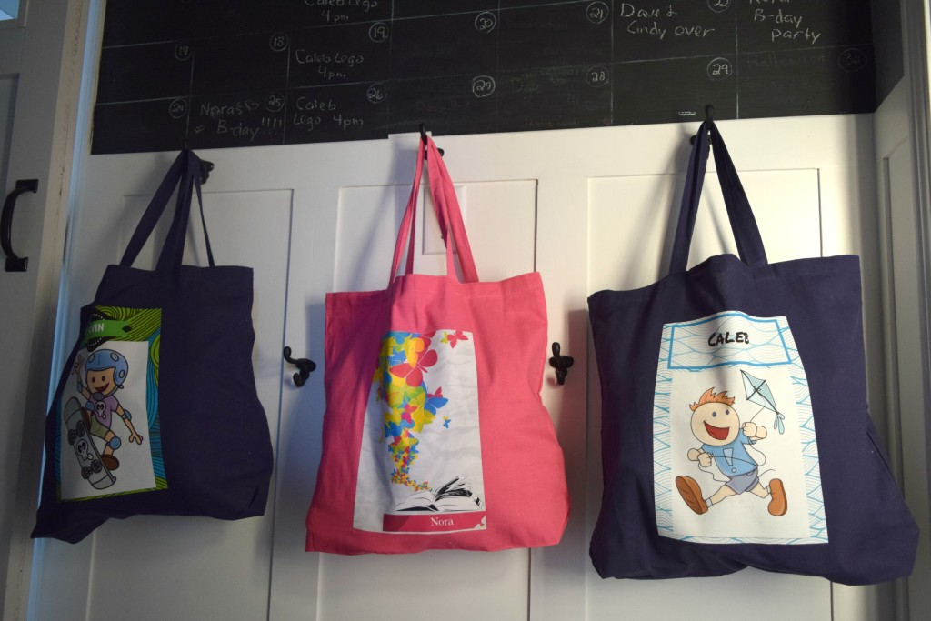 custom totes with graphic stock