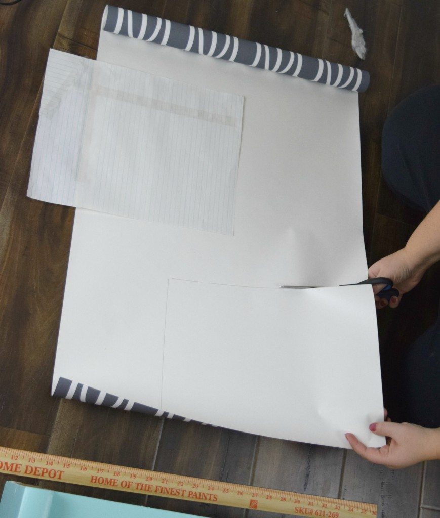 cutting wall paper backing
