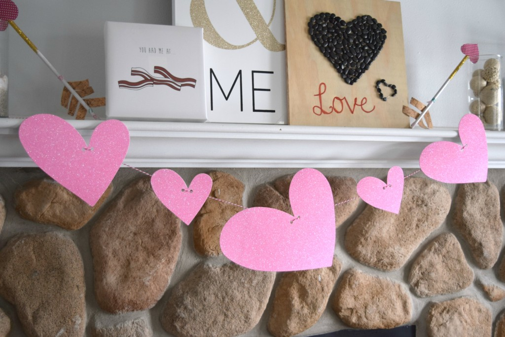 dollar store heart garland
