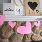 Dollar store Valentines blog hop, making a simple heart garland