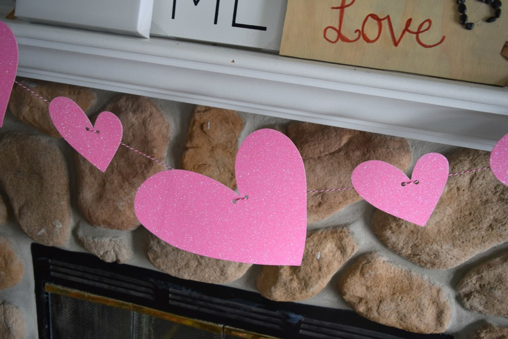 dollar store heart garland ideas