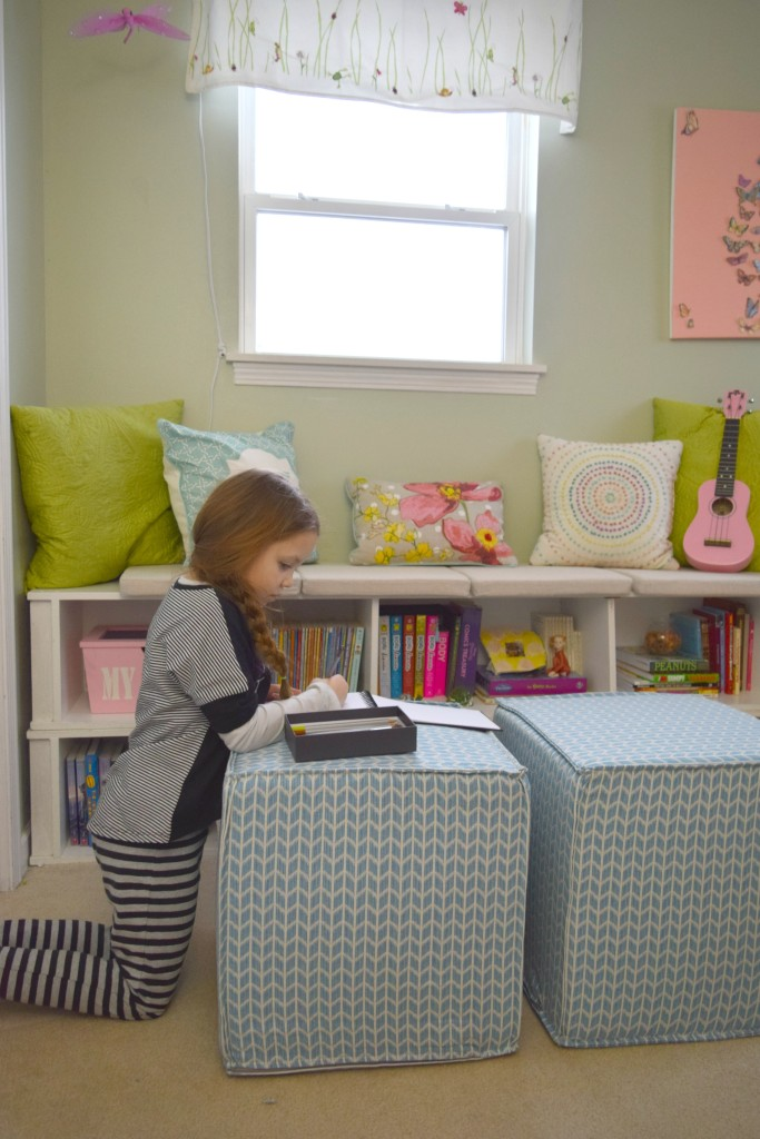 drawing in reading nook