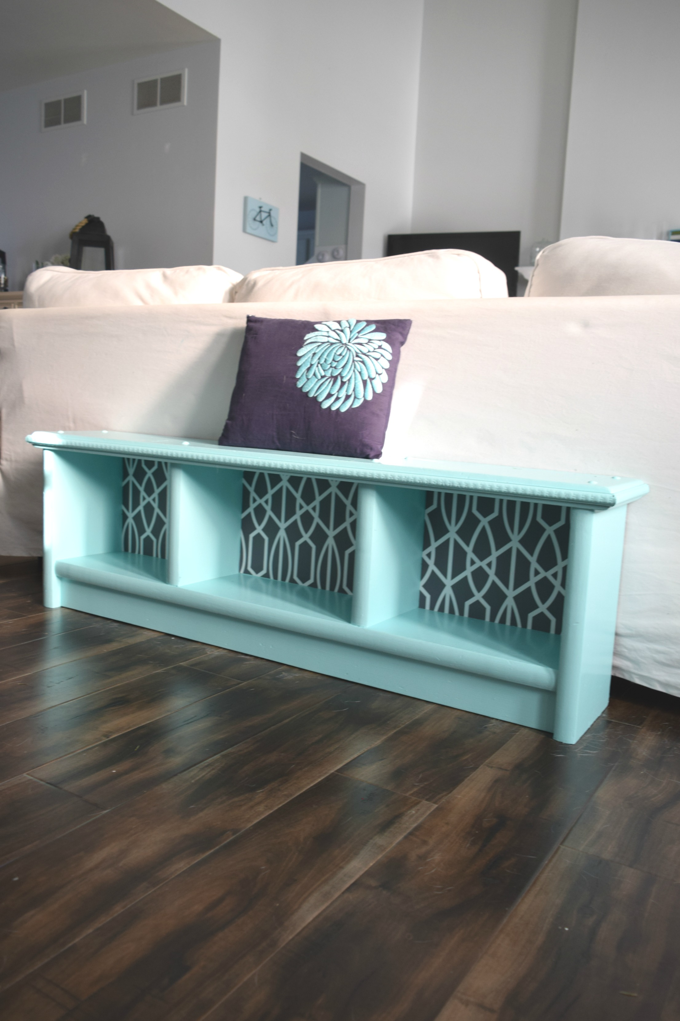How To Upcycle A Bench Adding The Details O Our House Now Home