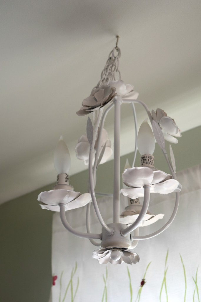 hanging light in girl bedroom