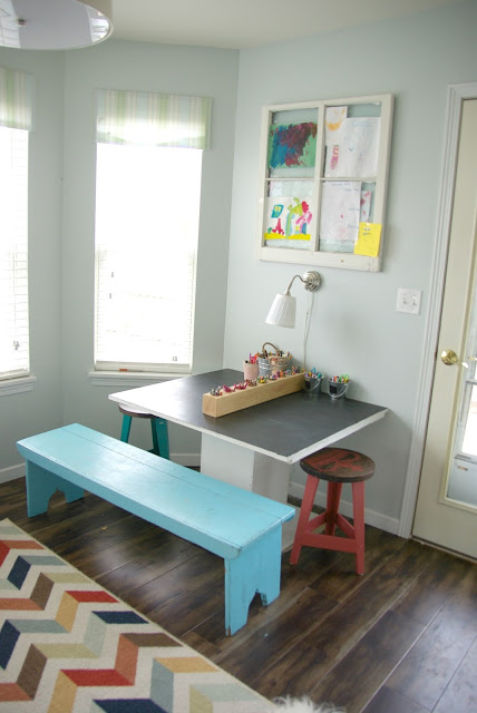 kids diy art table