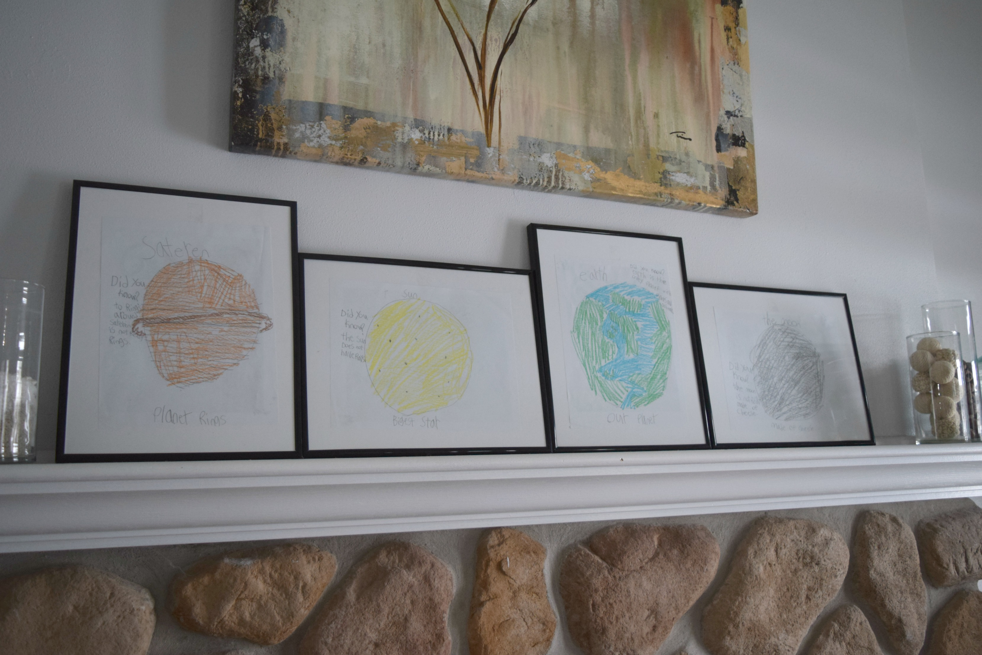 kids drawings of planets
