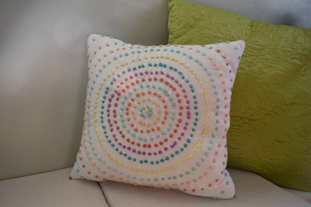 raindbow colored pillow
