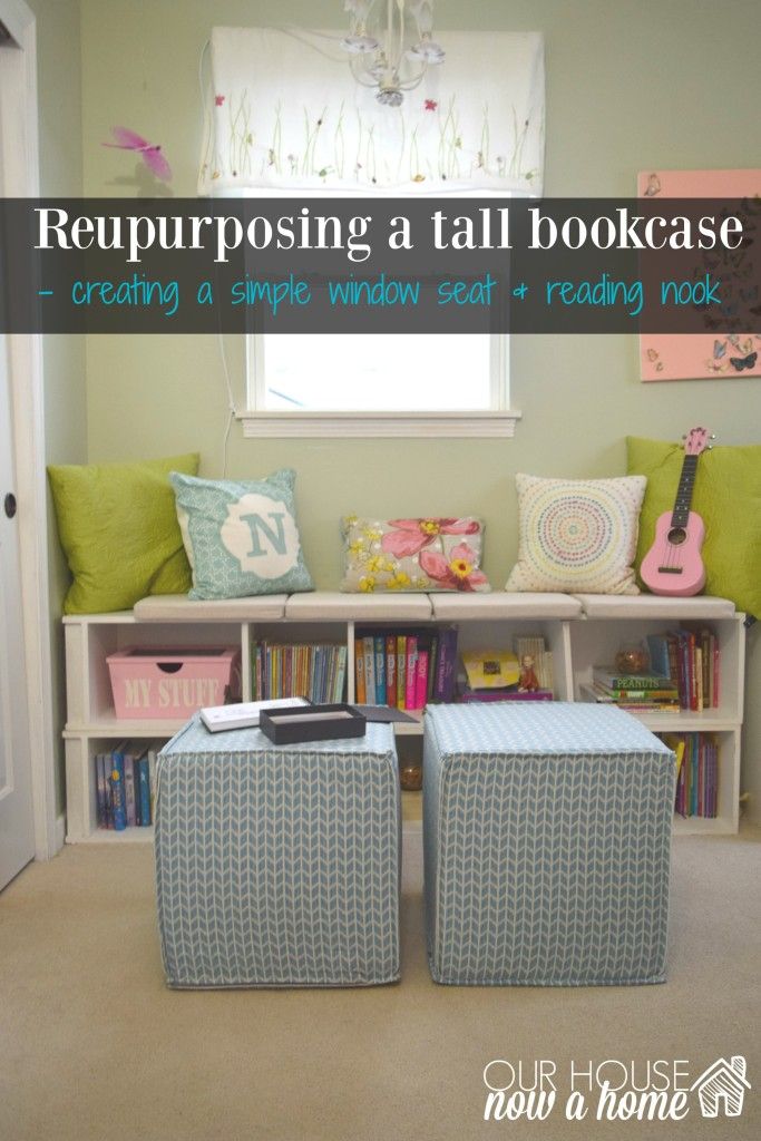 repurposing tall bookcase