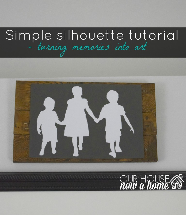 A silhouette wall art