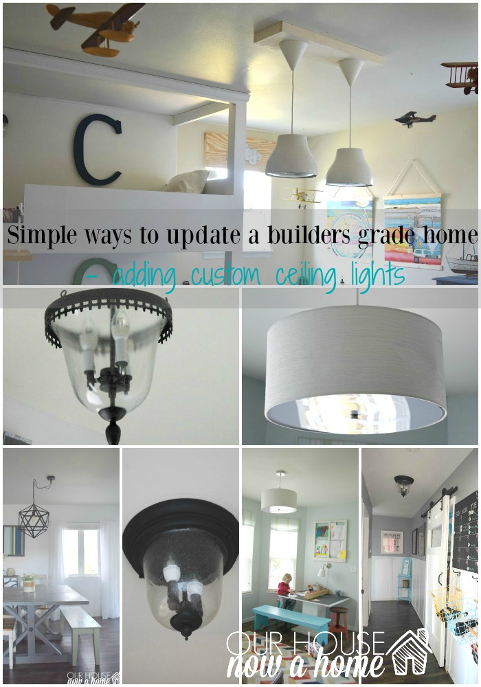 Simple steps to make a builders grade home feel custom ceiling