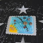 Kid decorated solar system party