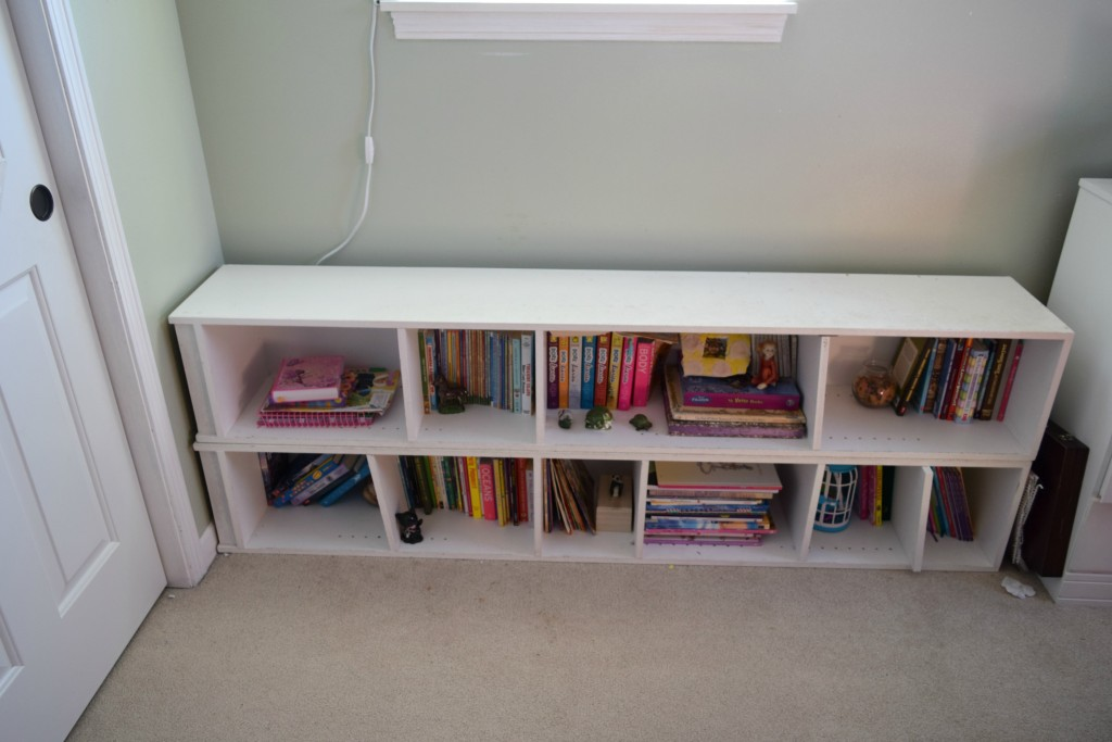 turning shelving into window seat