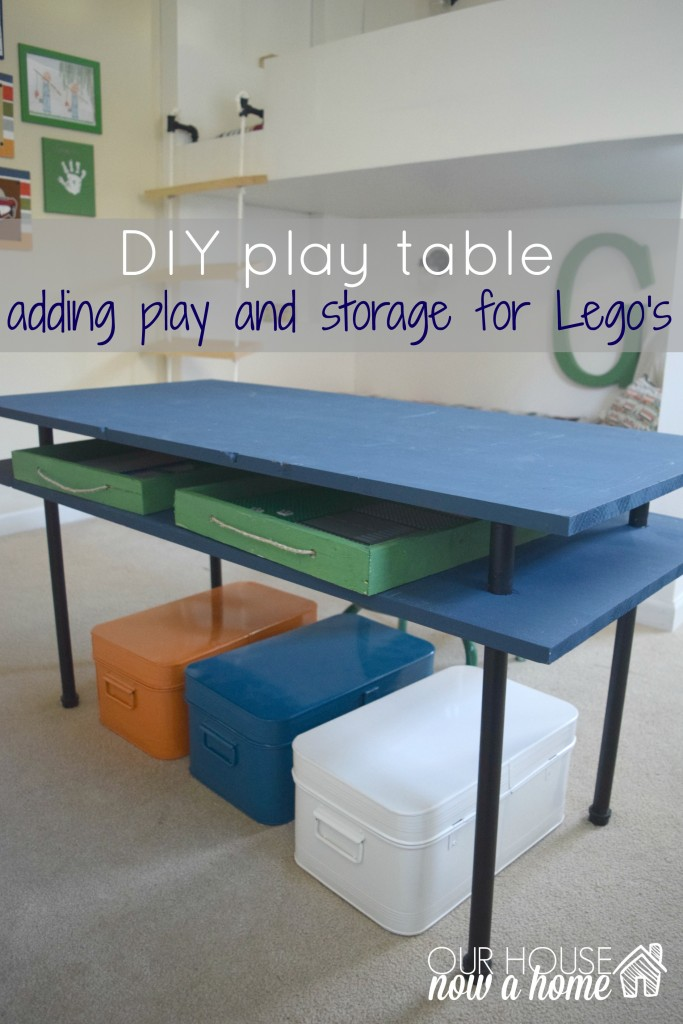 DIY play table title with WM