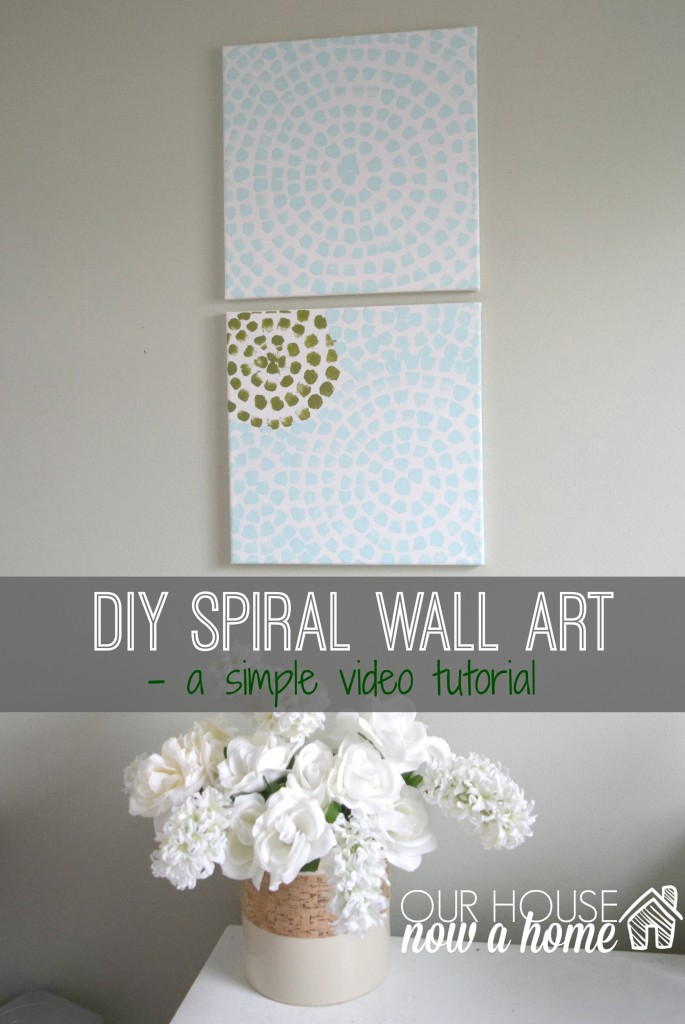 DIY wall art video