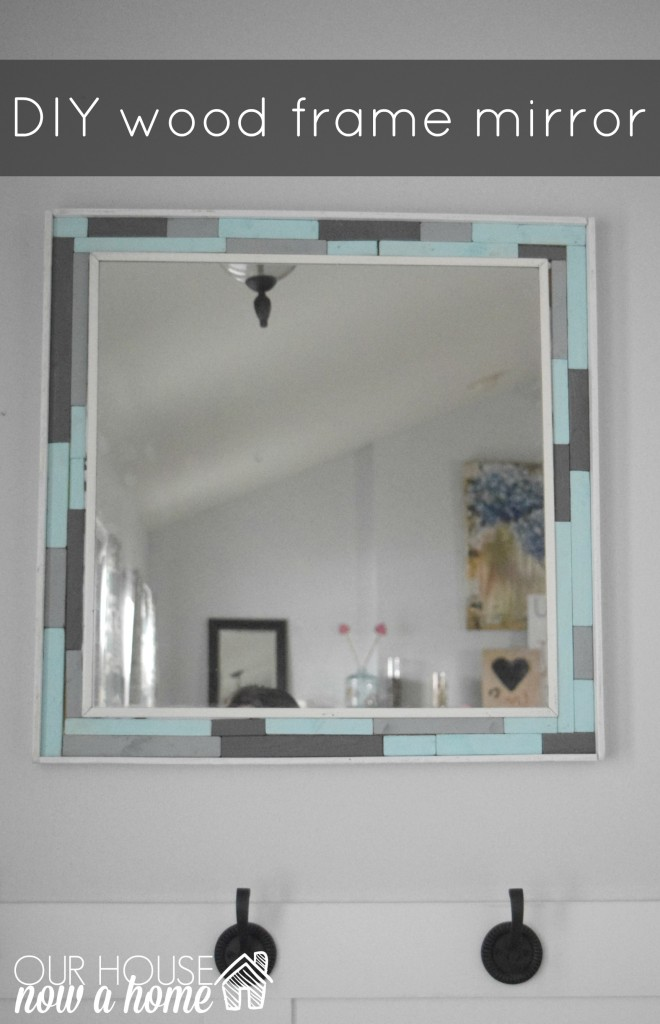 DIY wood scrap mirror frame