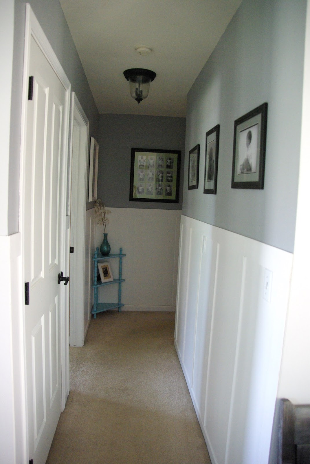 Hallway Transformation Diy Wainscoting Our House Now A Home