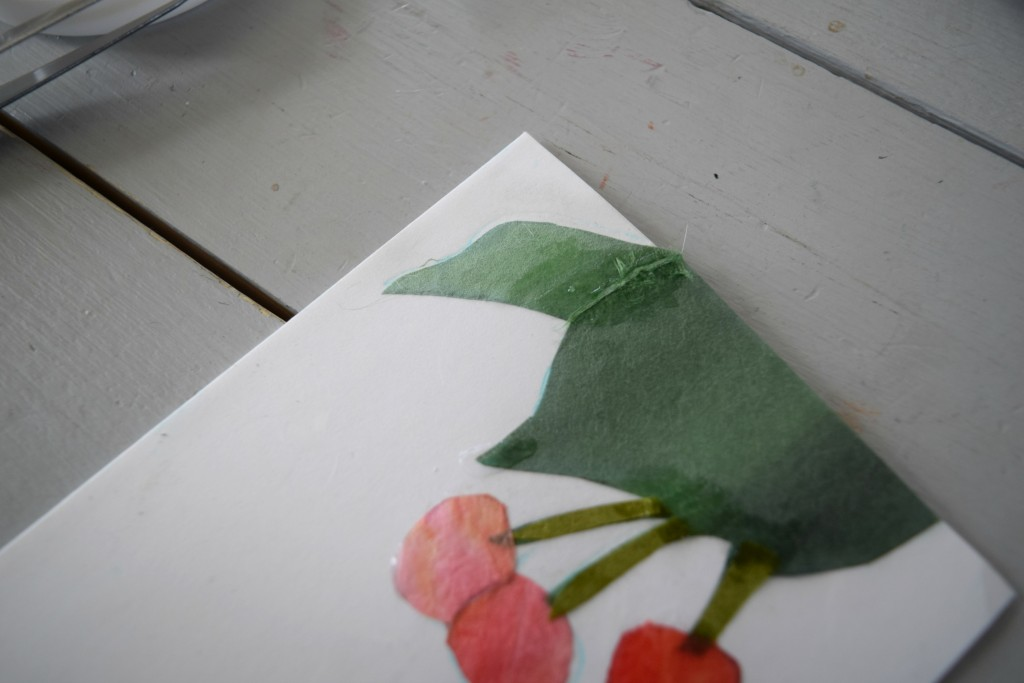 attaching leaf details to art