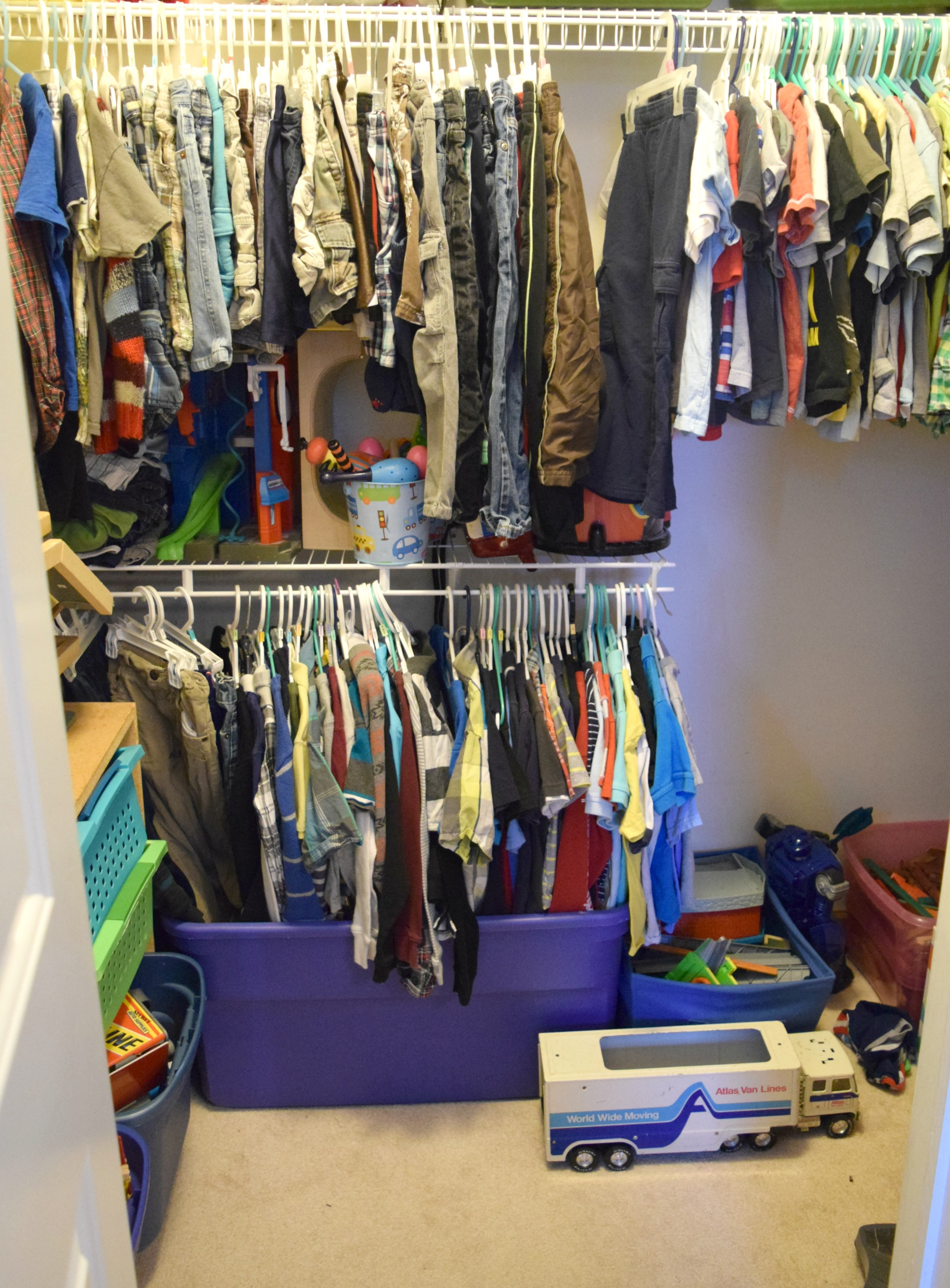 The Next Step Is To Utilize The Closets. My Boys Are Crazy Lucky To Have A  Walk In Closet To Share, Which Does Make The Idea Of Using The Closet For  More ...