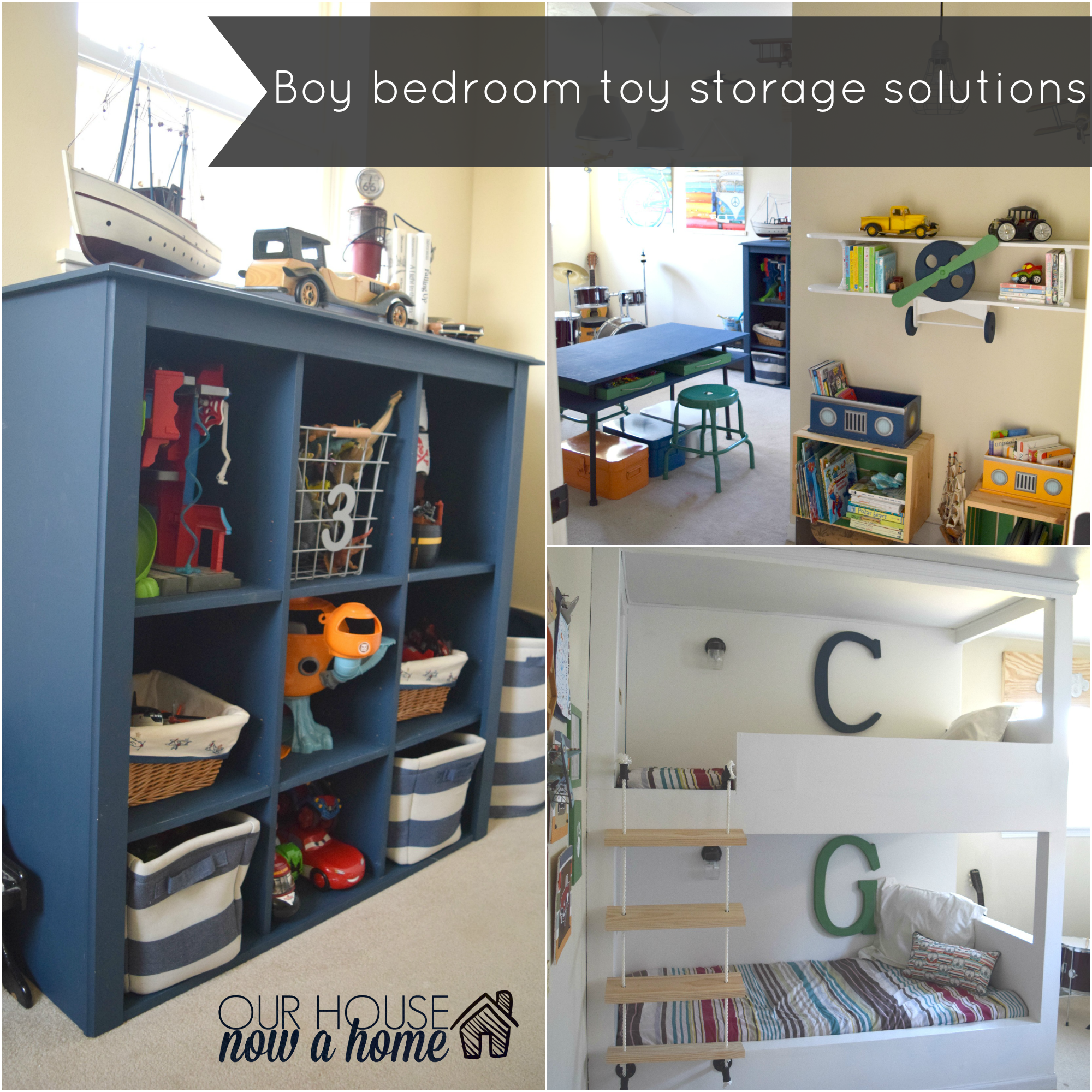 A simple way to organize toys our house now a home - Small space storage solutions for bedroom ideas ...