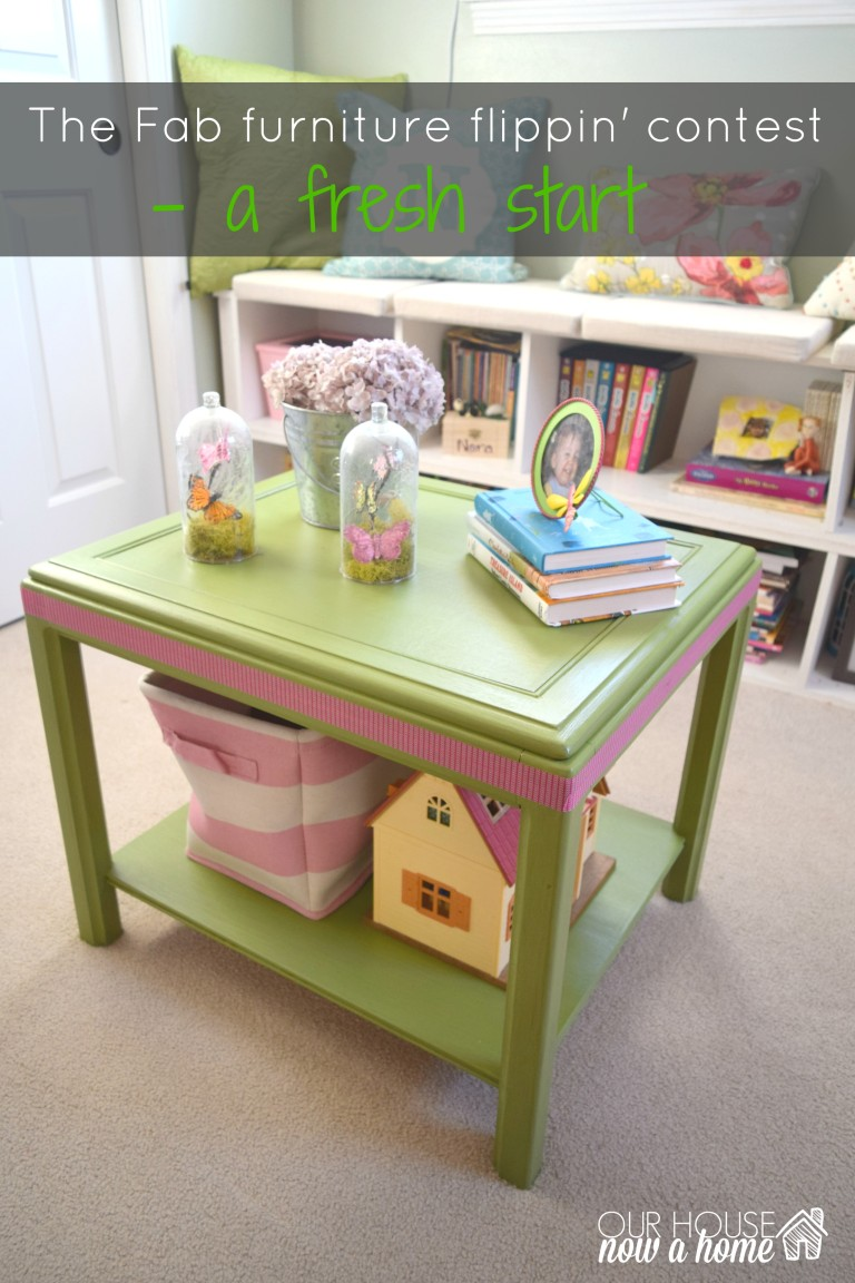 Fab furniture flippin' contest, side table turned into play table