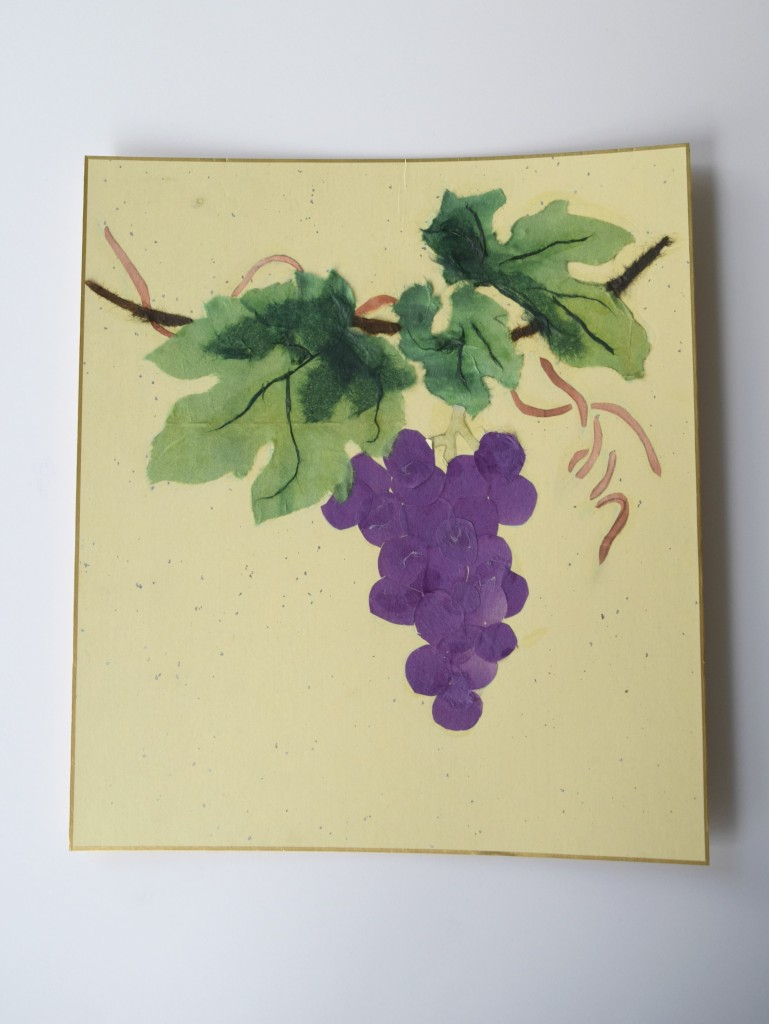 grape paper art